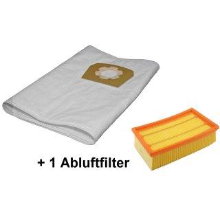 10 Staubsaugerbeutel + Filter passend für Würth ISS 35 / ISS 45 M / ISS 55 S Staubsauger Staubsaugerfilter Faltenfilter