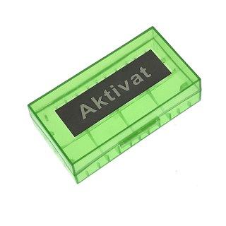 Akku 18650 Box, Transportbox - passende Akkus: 18650, 17670, 16630 und CR123A