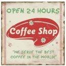 Blechschild - Coffee Shop  - Wandschild Shabby Retro -...