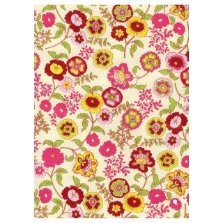 Klebefolie Möbelfolie Fleur Blumen bunt selbstklebende Folie 45x200 cm