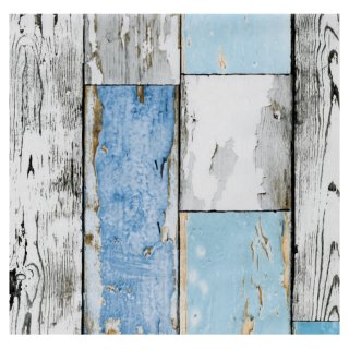Klebefolie Holzoptik - altes Holz Scrapwood blue - Dekorfolie 45x200