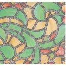 bunte Fensterfolie Reims green yellow - Glasdekorfolie...