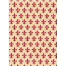 Klebefolie Lily red - Möbelfolie Lilie rot Dekorfolie Folie 45x200 cm